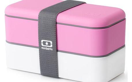 Růžový obědový box Monbento
