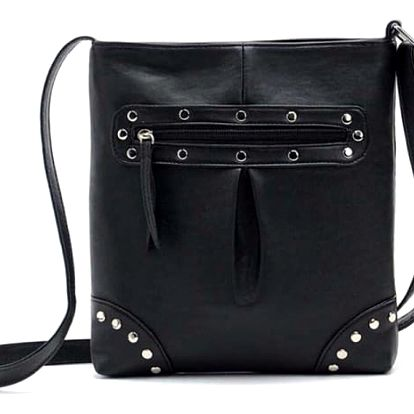 Módní taška přes rameno v různých barvách - černá - dodání do 2 dnů