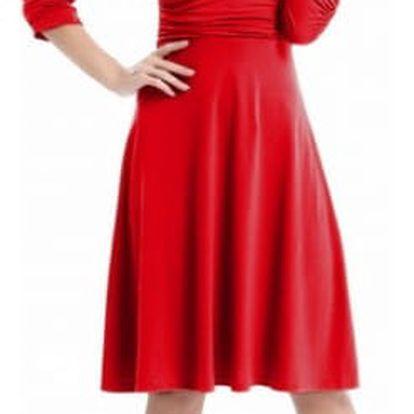 Společenské šaty s krátkým nebo nabíraným rukávem - více barev