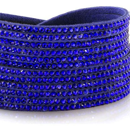 Fashion Icon Náramek široký s krystalky z tkaniny