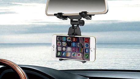 360° otočný držák na telefon do auta na zpětné zrcátko - dodání do 2 dnů