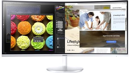 "Samsung C34F791 - LED monitor 34"" - LC34F791WQUXEN + TV Tuner USB 2.0 DVB-T OMEGA T300"