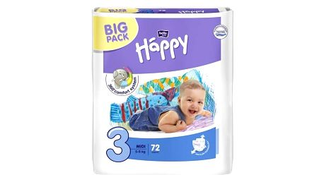 Plenky Bella Baby Happy Midi Big Pack 72 ks