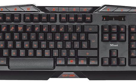 Trust GXT 280 LED Illuminated Gaming Keyboard, CZ/SK - 20502