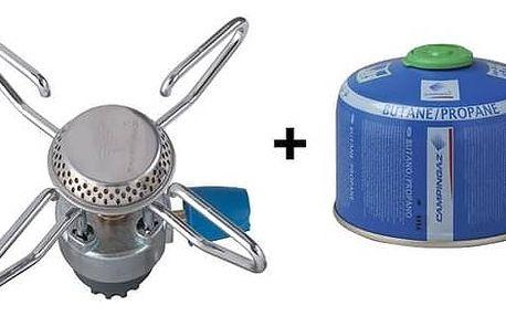 Vařič Campingaz Bleuet Micro plus + kartuše CV 270 nerez