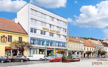 3–5denní pobyt pro 2 se snídaní nebo polopenzí v hotelu Zlatý kříž*** v Třebíči