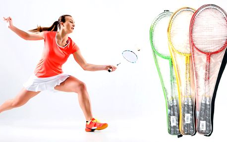 Lehké badmintonové rakety včetně obalu