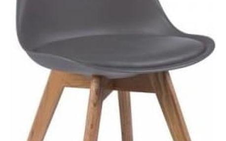 Šedá židle s bukovými nohami Signal Kris - doprava zdarma!