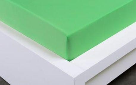 XPOSE ® Jersey prostěradlo dvoulůžko - letní zelená 180x200 cm