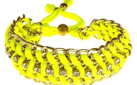 Fashion Icon Náramek neonový s kamínky
