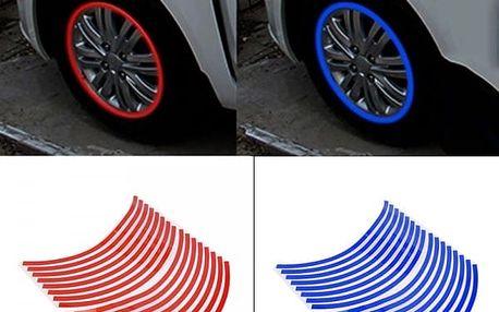 Reflexivní lepící pásky na ozdobu auto a moto kol - 16 ks - dodání do 2 dnů