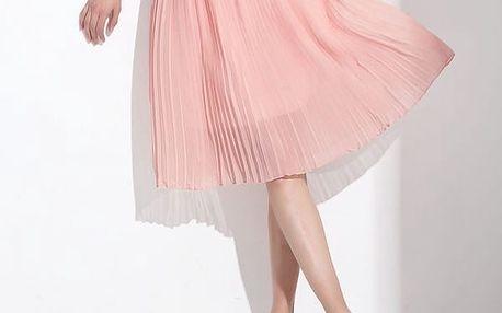 Harmoniková šifonová sukně - různé barvy a délky