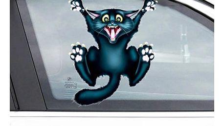 Samolepka na auto - Vyděšená kočička - dodání do 2 dnů