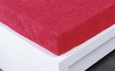 XPOSE ® Froté prostěradlo Exclusive jednolůžko - malinová 90x200 cm