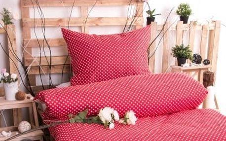 XPOSE ® Prodloužené bavlněné povlečení MARKÉTA - červená 140x220, 70x90
