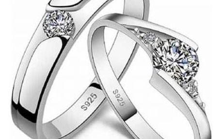Krásné prstýnky ve svatebním stylu - varianta 2 - dodání do 2 dnů
