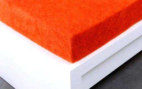 XPOSE ® Froté prostěradlo Exclusive dvoulůžko - tmavě oranžová 200x220 cm