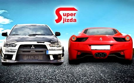 Zážitková jízda v závodním Mitsubishi Lancer či Ferrari 458 na okruhu v Hradci Králové