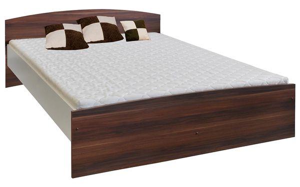Manželská postel 60341 160x200 dvojlůžko ořech / bílá Idea