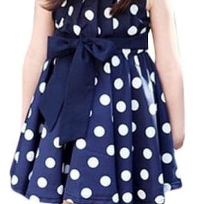 Dívčí letní šatičky s puntíky - 2 barvy