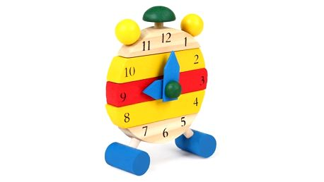 Dřevěné skládací dětské hodiny