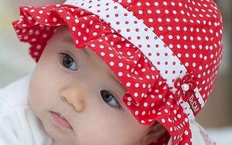 Puntíkovaný klobouček pro malé holčičky - 3 barvy