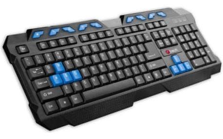 C-Tech GMK-102-B, USB, CZ/SK (GMK-102-B) černá/modrá