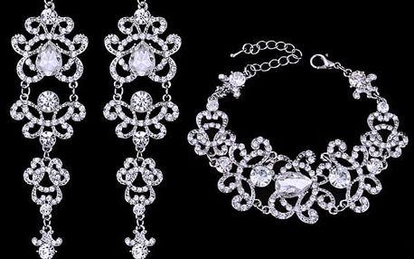 Sada luxusně zářivých šperků