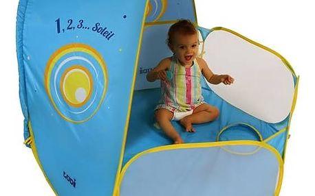 UV stan Ludi a hrací ohrádka pro miminko - modrý