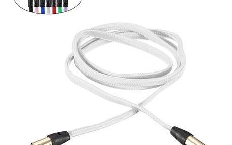 Plochý propojovací jack kabel 3,5 mm - 3,5 mm - 7 barev