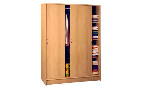 Šatní skříň s posuvnými dveřmi 3323 buk Idea