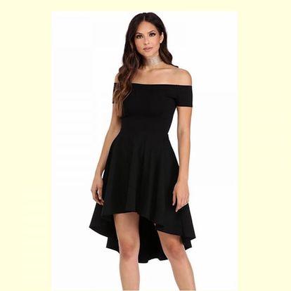 Společenské šaty s odhalenými rameny - 4 barvy