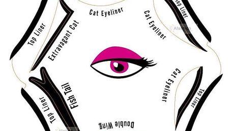 Šablona na oční linky