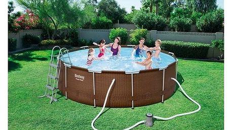 Bazén Bestway Steel Frame Pool 366 x 100 cm, 56379 + Doprava zdarma