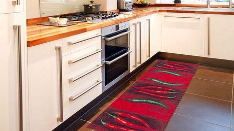Vysoce odolný kuchyňský koberec Webtappeti Peperoncini,60x110cm - doprava zdarma!