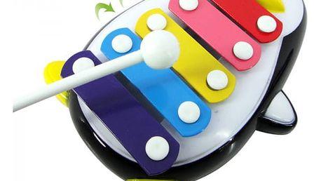 Dětský xylofon v podobě tučňáka - 2 barvy