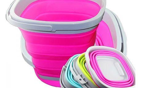 Skládací silikonový kbelík s držadlem