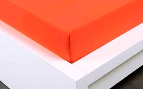 XPOSE ® Jersey prostěradlo jednolůžko - tmavě oranžová 90x200 cm