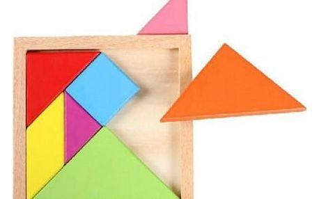 Malý dětský hlavolam s geometrickými tvary