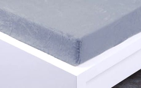 XPOSE ® Prostěradlo mikroflanel Exclusive dvoulůžko - světle šedá 180x200 cm