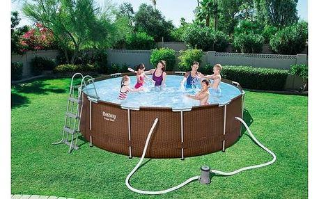 Bazén Bestway Steel Frame Pool 366 x 100 cm + Bazénové chemie za zvýhodněnou cenu + Doprava zdarma