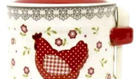 Kvalitní, keramická cukřenka se lžičkou v elegantním stylu.