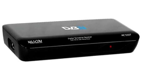 DVB-T přijímač Mascom MC550T USBPVR černý