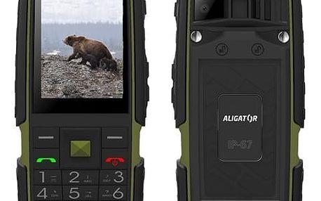 Mobilní telefon Aligator R20 eXtremo (AR20BGN) černý/zelený