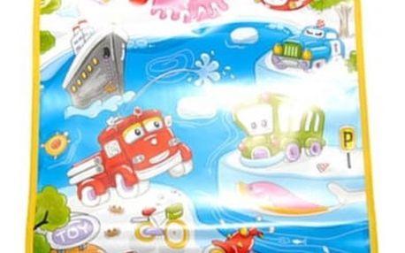 Dětský hudební kobereček s dopravními prostředky