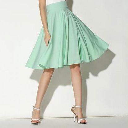 Dámská sukně široká s vysokým pasem - 4 barvy