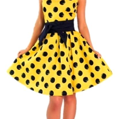 Retro puntíkované šaty pro dámy - 3 barvy