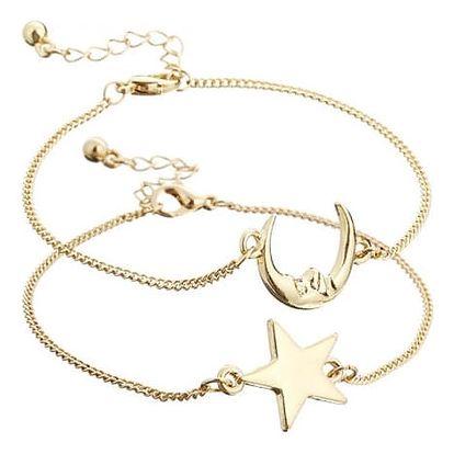 Náramky s hvězdou a měsícem - symbol přítelství