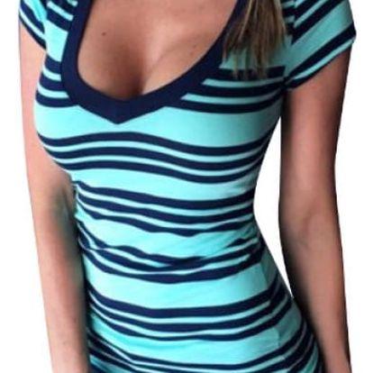 Dámské pruhované tričko Lima