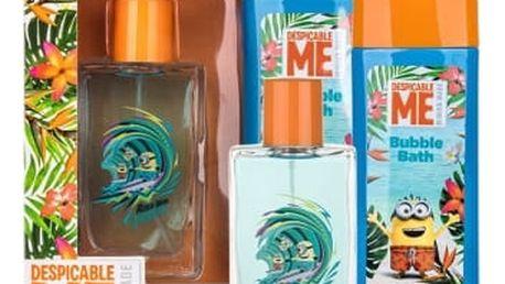 Minions Minions Paradise 75 ml dárková kazeta dárková sada toaletní voda 75 ml + pěna do koupele 250 ml